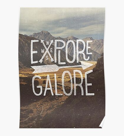 Explore Galore Poster