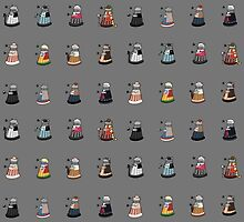 Daleks in Disguise Pattern by murphypop