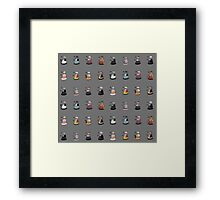 Daleks in Disguise Pattern Framed Print