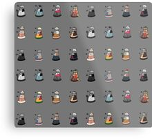 Daleks in Disguise Pattern Metal Print