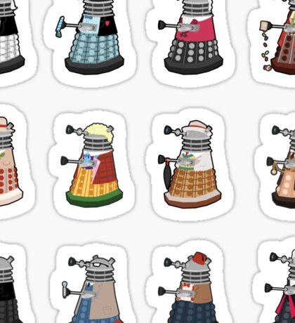 Daleks in Disguise Pattern Sticker
