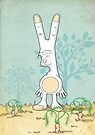 Obscene Gesture Bunny  by Creative Spectator
