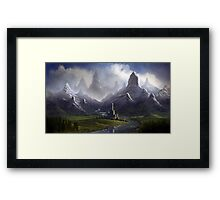 Twisted Mountain Valley Framed Print