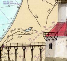 St Joseph Lighthouse Lake MI Chart Cathy Peek Sticker