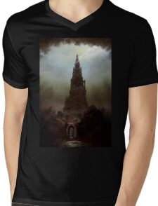 Frankenstein's Castle Mens V-Neck T-Shirt