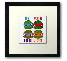 5 seconds of summer ninja turtles Framed Print