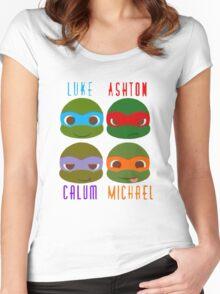 5 seconds of summer ninja turtles Women's Fitted Scoop T-Shirt