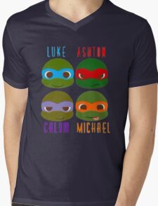 5 seconds of summer ninja turtles Mens V-Neck T-Shirt