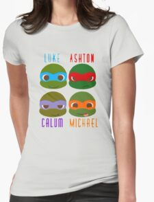 5 seconds of summer ninja turtles Womens Fitted T-Shirt