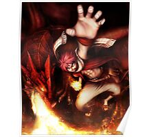 Fairy Tail-Natsu and Igneel-Full Graphic Shirt Poster