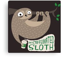 Caffeinated Sloth Canvas Print
