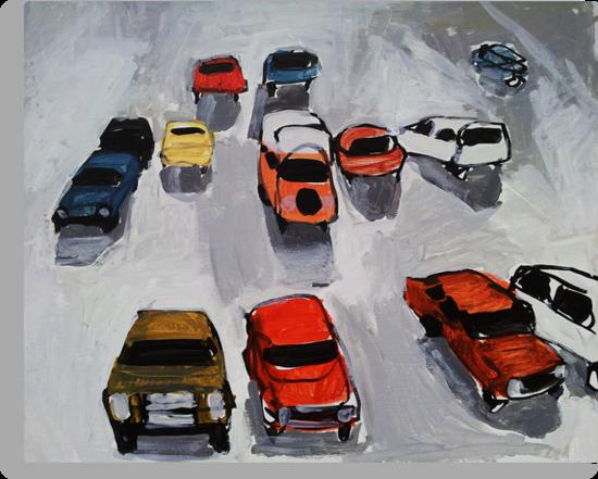 Rainy parking by Rebecca Landmér