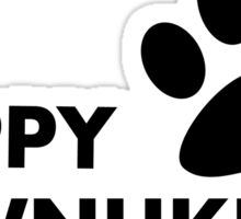 Hanukkah dog - happy paw - nukkah Sticker
