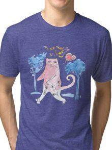 Кот на коньках Tri-blend T-Shirt