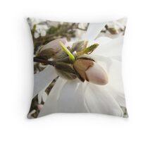 White Magnolia Flowers art Prints Floral Throw Pillow