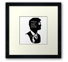 Harry Potter Silhouette Quotes Framed Print