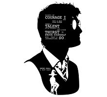 Harry Potter Silhouette Quotes Photographic Print