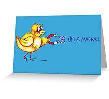 Chick Magnet Shirt (Drawn) Greeting Card
