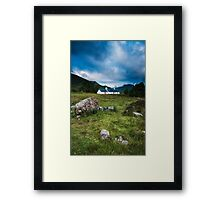 Cottage in the Mountains Framed Print