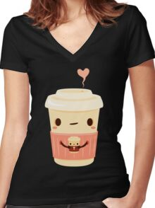 Coffee Coffee Women's Fitted V-Neck T-Shirt