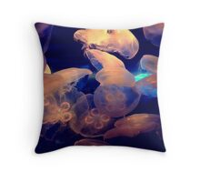 Jellyfish Family Throw Pillow