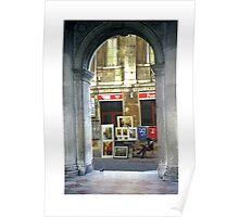 Artist Thru the Arches Poster