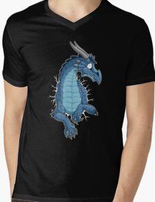 STUCK - Blue Dragon Mens V-Neck T-Shirt