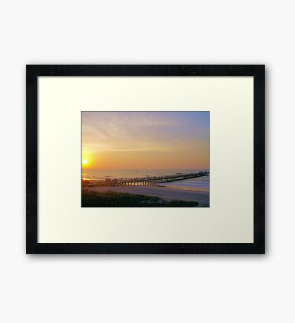 Amazing Morning At The Pier Framed Print