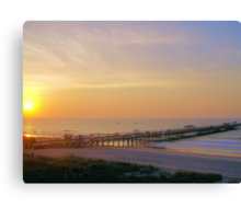 Amazing Morning At The Pier Canvas Print