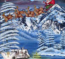 Wilderness Christmas Santa by Mikki Alhart