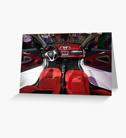 Smart ForTwo Turbo Cabrio Tritop Inside [ Print & iPad / iPod / iPhone Case ] Greeting Card