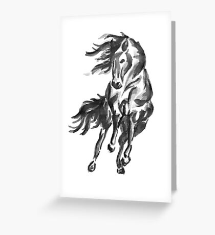 Sumi-e Horse Greeting Card
