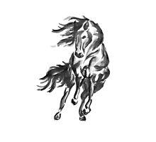 Sumi-e Horse Photographic Print