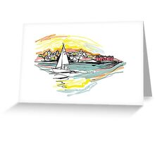 Sailing from Donsö harbor Greeting Card