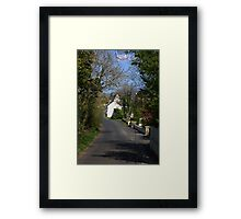 Irish country road Framed Print