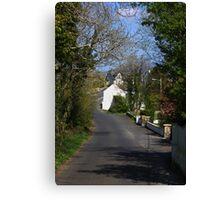 Irish country road Canvas Print