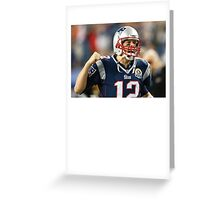 Tom Brady T-Shirt Greeting Card