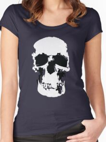 Sherlock Skull Wall Hanging Women's Fitted Scoop T-Shirt