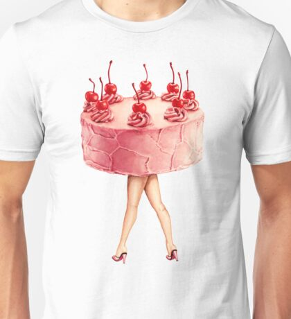 Hot Cakes - Cherry Unisex T-Shirt