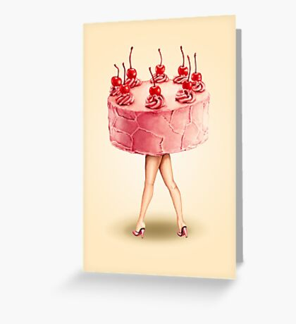 Hot Cakes - Cherry Greeting Card