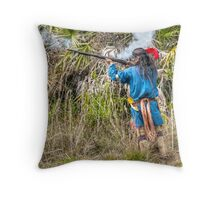 Seminole War Reenactment in South Florida Throw Pillow