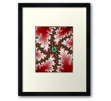 Red Green Mandelbrot Framed Print