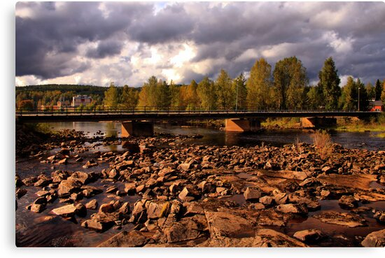 Crossing the Klarälven by Jo Nijenhuis