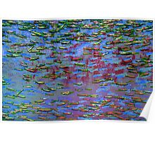 Underwater Abstract Gallery - Piece 12 (Fauvistic) Poster