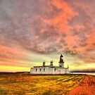 Lighthouse at Chanonry Point, Black Isle, Scotland by Steve