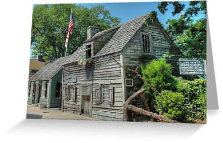 The Oldest Wood School House in The USA - St. Augustine, Florida.  by Jeremy Lavender Photography