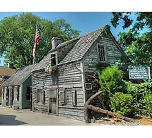 The Oldest Wood School House in The USA - St. Augustine, Florida.  Photographic Print