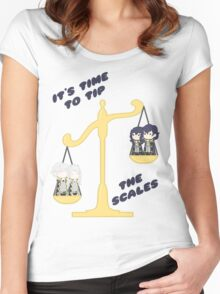 Derp Emblem: Tip the Scales Shirt Women's Fitted Scoop T-Shirt