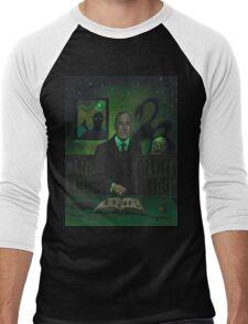 HP Lovecraft Portrait Men's Baseball ¾ T-Shirt