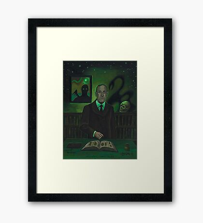 HP Lovecraft Portrait Framed Print